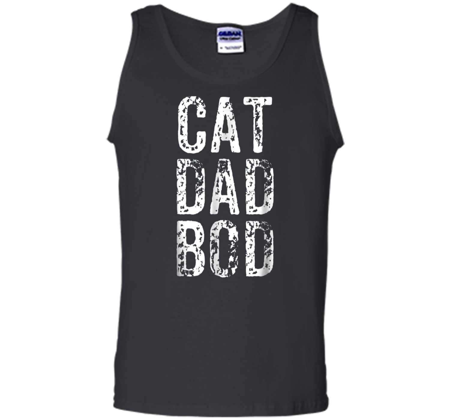 7dd57ca8a Cat Dad Bod | Funny Pet Owner Fitness Gym Tank Top Tank Top – Pin My ...