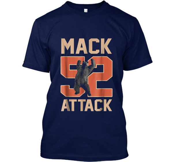 Mack Attack 52 Chicago Football New Player Tee Custom Ultra Cotton Custom  Ultra Cotton – Pin My Tees e546d0089