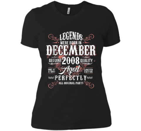 Vintage December 2008 10th Birthday Gifts  Next Level Ladies Boyfriend Tee