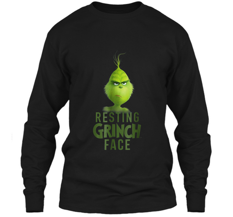 Dr. Seuss The Grinch Resting Grinch Face  LS Ultra Cotton Tshirt