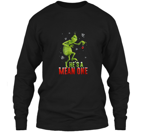 Dr. Seuss The Grinch Mean One  LS Ultra Cotton Tshirt