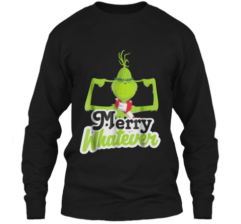 Dr. Seuss The Grinch Merry Whatever  LS Ultra Cotton Tshirt