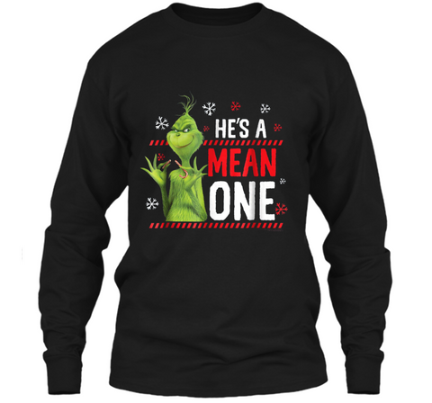 Dr. Seuss The Grinch Me Being Jolly  LS Ultra Cotton Tshirt