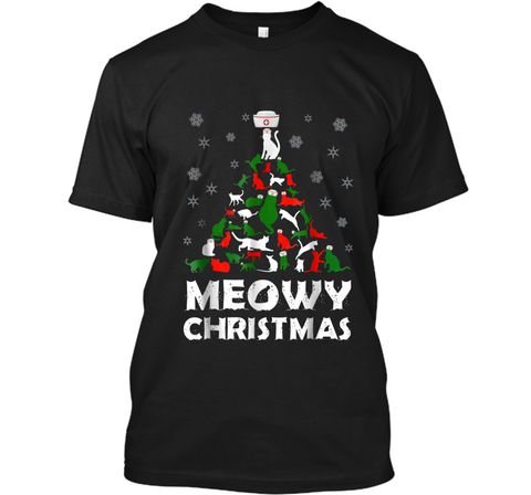 Merry Christmas Meowy Christ Mas  Funny Cat Nurse Gift Custom Ultra Cotton