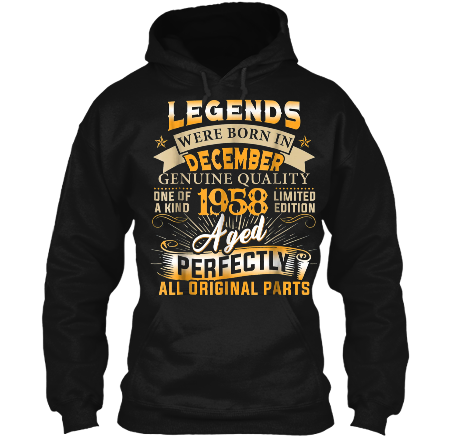 deac7b4d4 Legends Were Born In December 1958 60th Birthday Gift Pullover Hoodie 8 oz