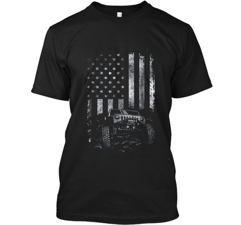 Jeep American Flag  USA Patriots Soldier Veteran Gif Custom Ultra Cotton