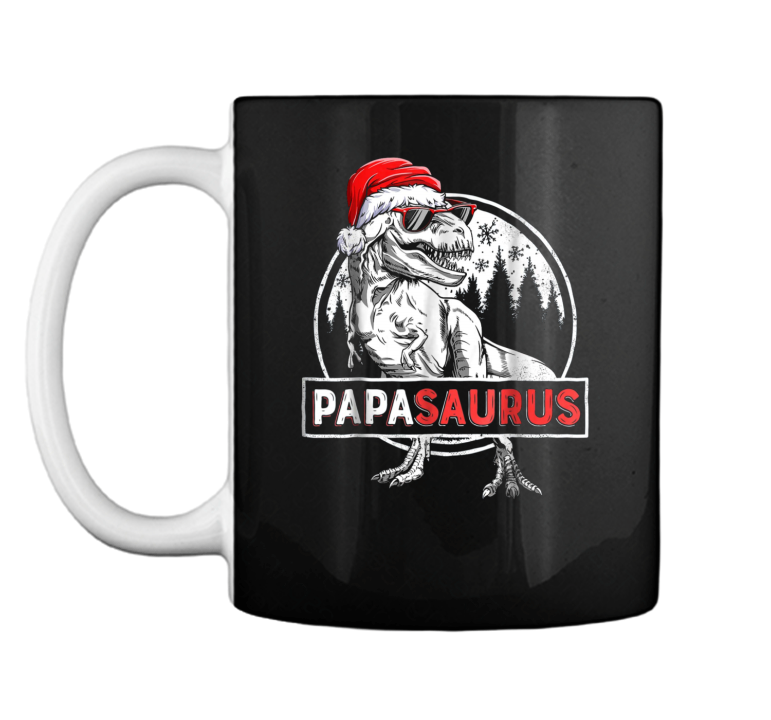21be7de15 Papasaurus Dinosaur Christmas Pajamas T rex Family Mug Coffee Mug ...
