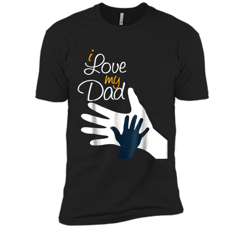 happy father day - dad and daughter - i love you daddy Next Level Premium Short Sleeve Tee