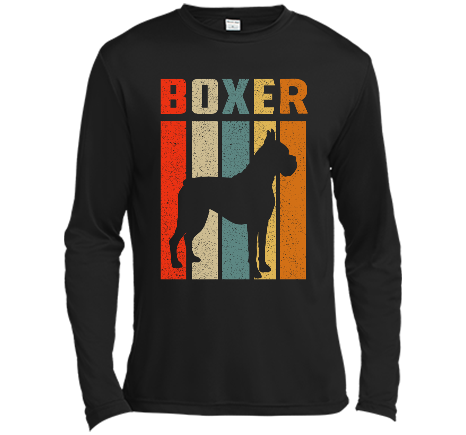 ebbd1072 Boxer Mom Retro Vintage T-Shirt Boxer Dad Boxer Dog Gifts Long Sleeve  Moisture Absorbing