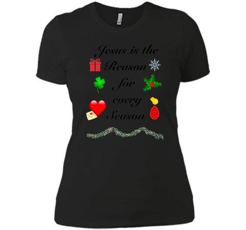 Christmas Easter St. Valentines St Patricks Day T-shirt Next Level Ladies Boyfriend Tee