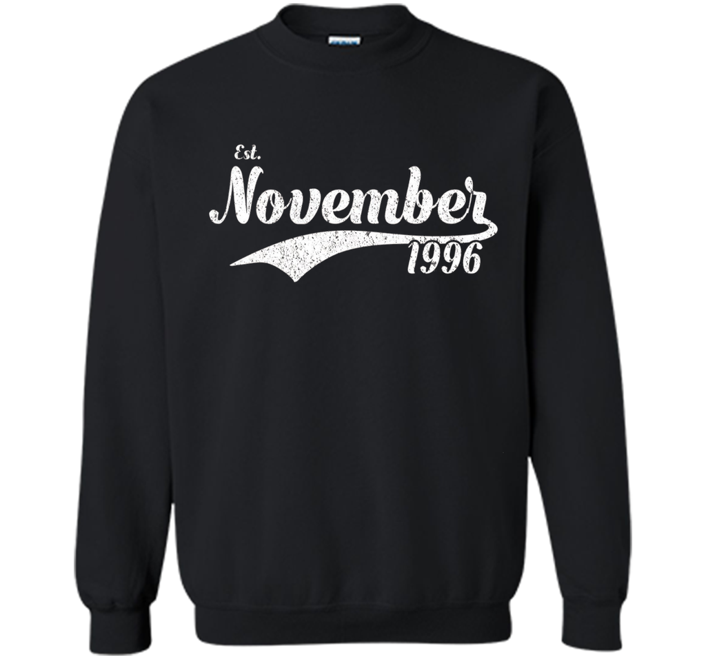 Est November 1996 Shirt - Great 21st Birthday Gifts TShirt shirt