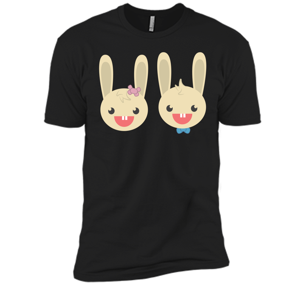 Cute Rabbit Bunny Couple Valentines Day Easter Shirt Next Level Premium Short Sleeve Tee