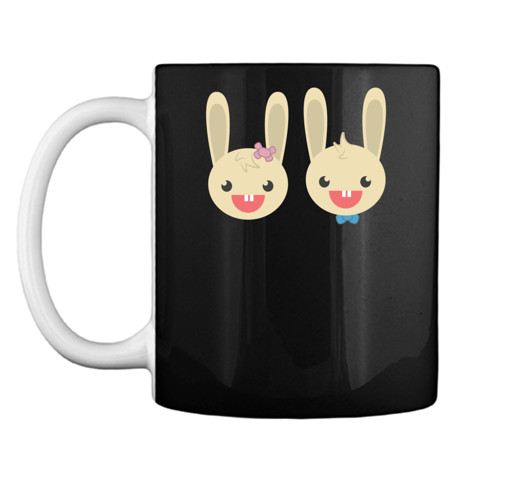Cute Rabbit Bunny Couple Valentines Day Easter Shirt Mug