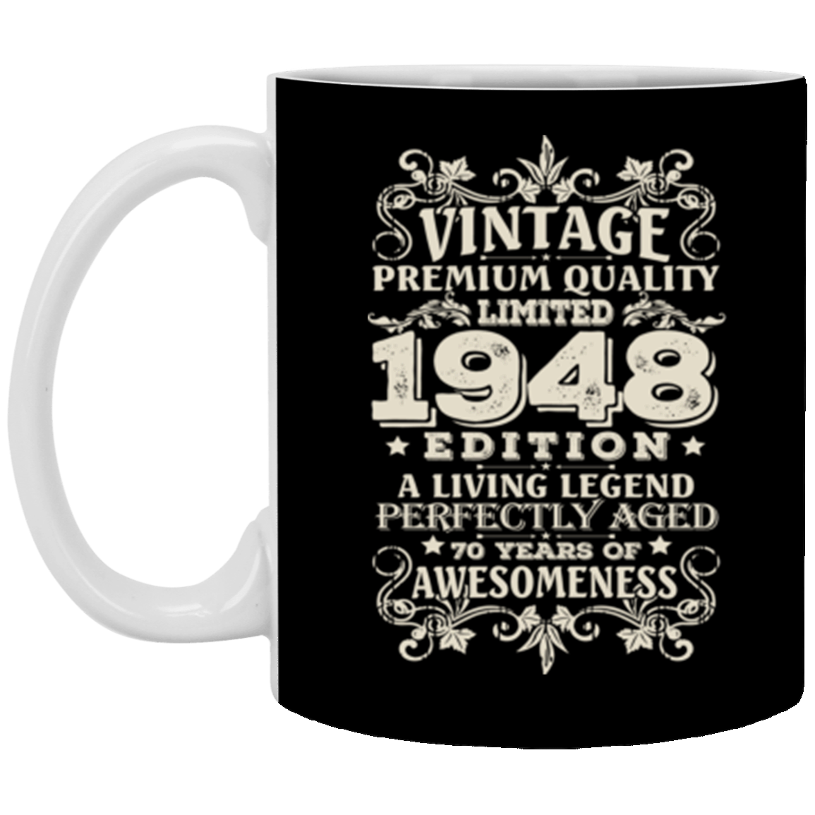 Vintage Made In 1948 70 Years Old 70th Birthday Gift Mug Coffee 11 Oz