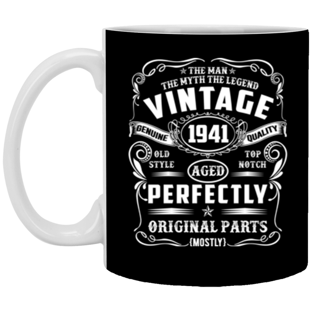77th Birthday Tee Legend Vintage 1941 Original Parts Mug Coffee Mug 11 oz Mug