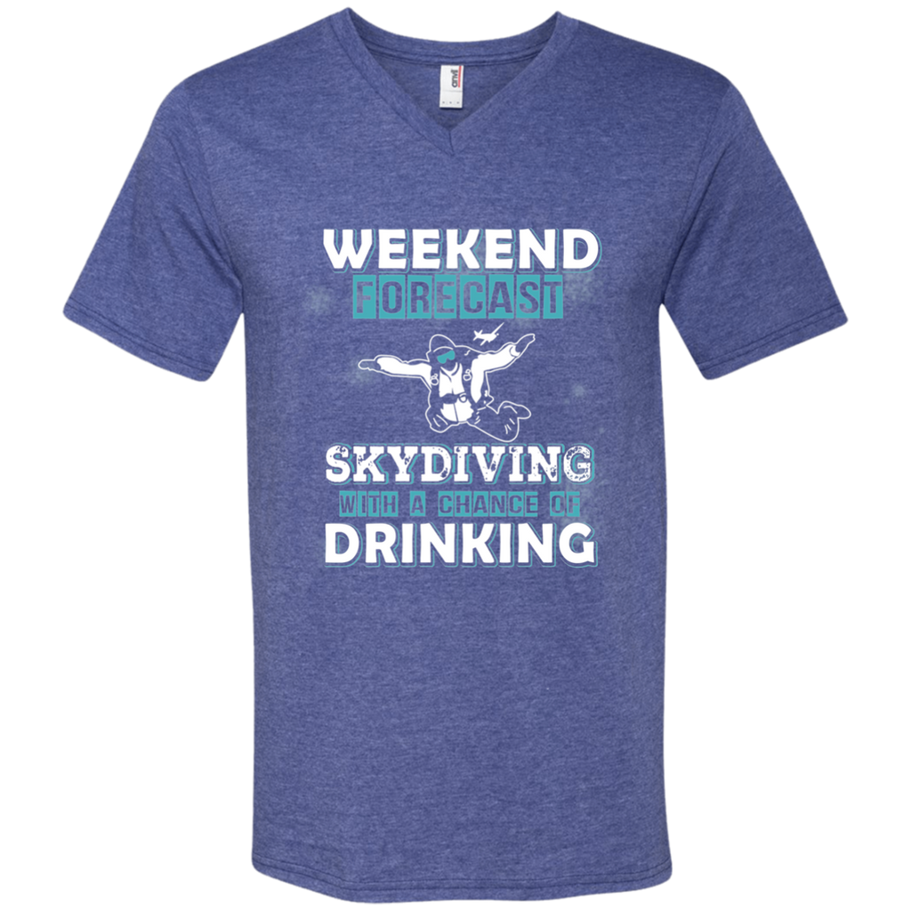 Skydiving- Limited Edition Men's Printed V-Neck T-Shirt