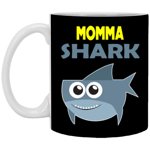 Funny Momma Shark Birthday Family Quote Meme GIft Mug Coffee Mug 11 oz Mug
