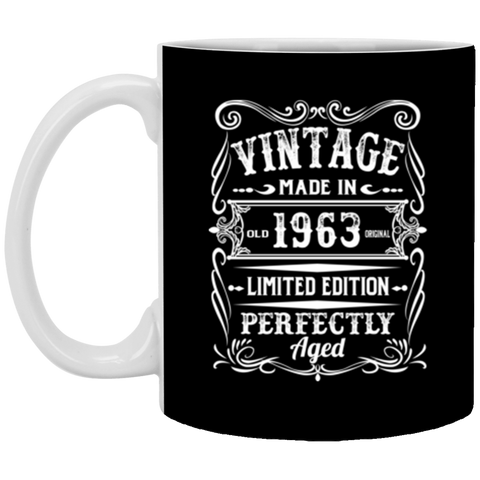 Vintage Made In 1963 Birthday 55th Birthday Gift 11 oz Mug