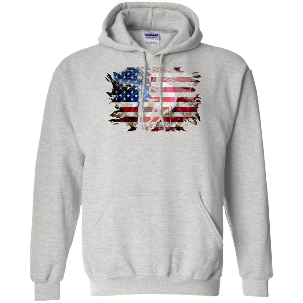 Awesome USA Patriotic American Flag US Lineman Gift Pullover Hoodie 8 oz