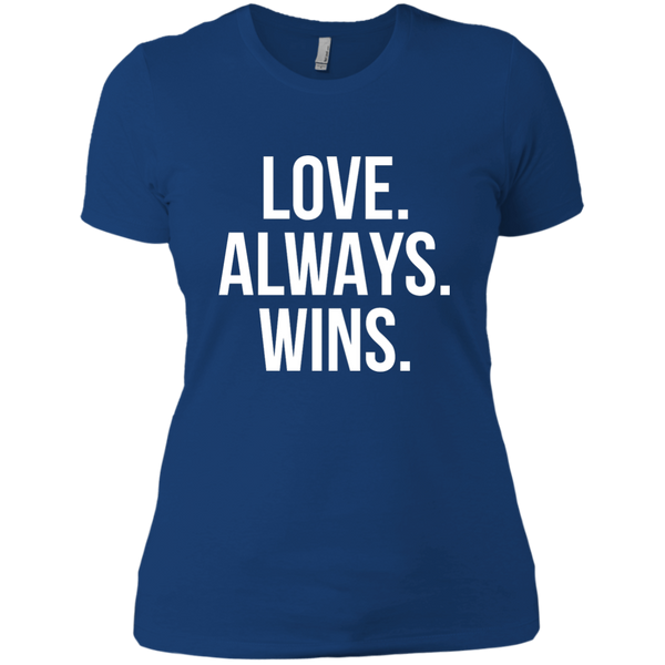 Lgbt Shirt Love Always Wins T Shirt Next Level Ladies Boyfriend