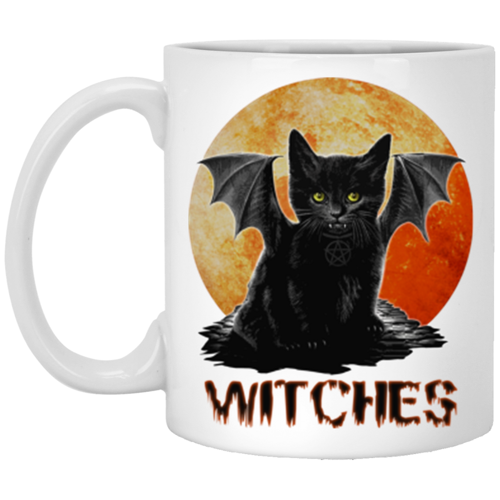 The Witches Cat Wicca Pagan Halloween Mug Coffee Mug 11 oz Mug
