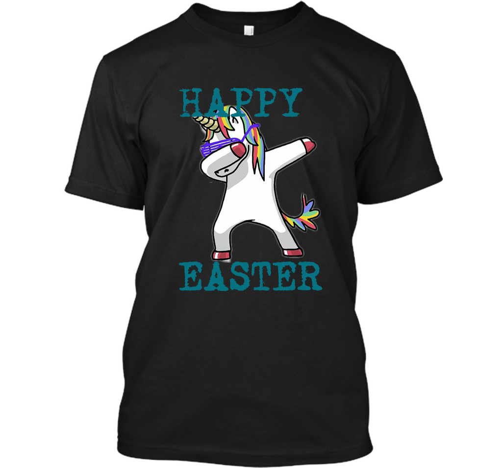 Happy Easter Dabbing Unicorn TShirt For Boys Girls Custom Ultra Cotton