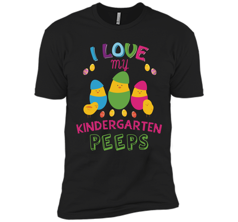 I Love My Kindergarten Peeps Shirt Easter Teacher Tee Next Level Premium Short Sleeve Tee