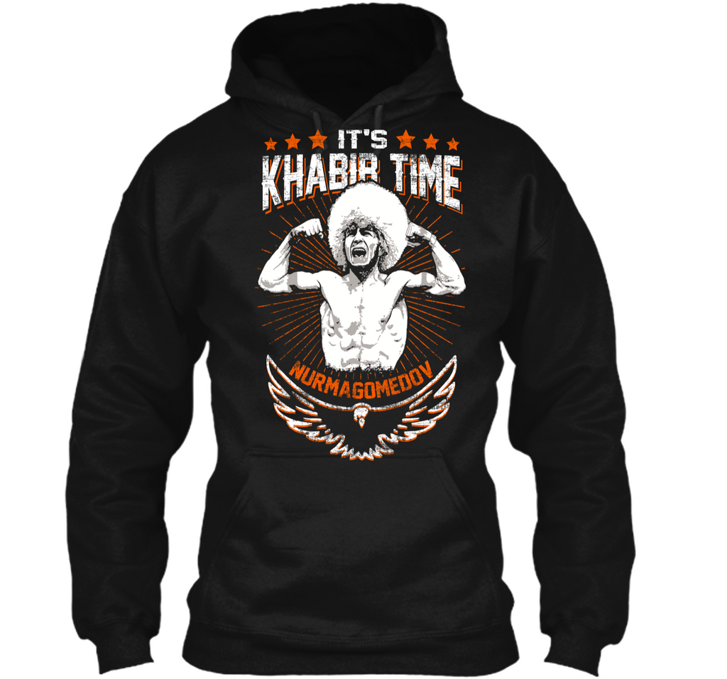 It Is Khabib Eagle Time T Shirt For Men Pullover Hoodie 8 oz
