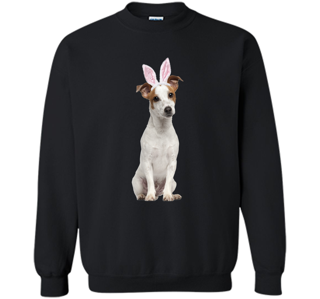 Jack Russell Wearing Easter Bunny Ears Dog T-Shirt Printed Crewneck Pullover Sweatshirt 8 oz