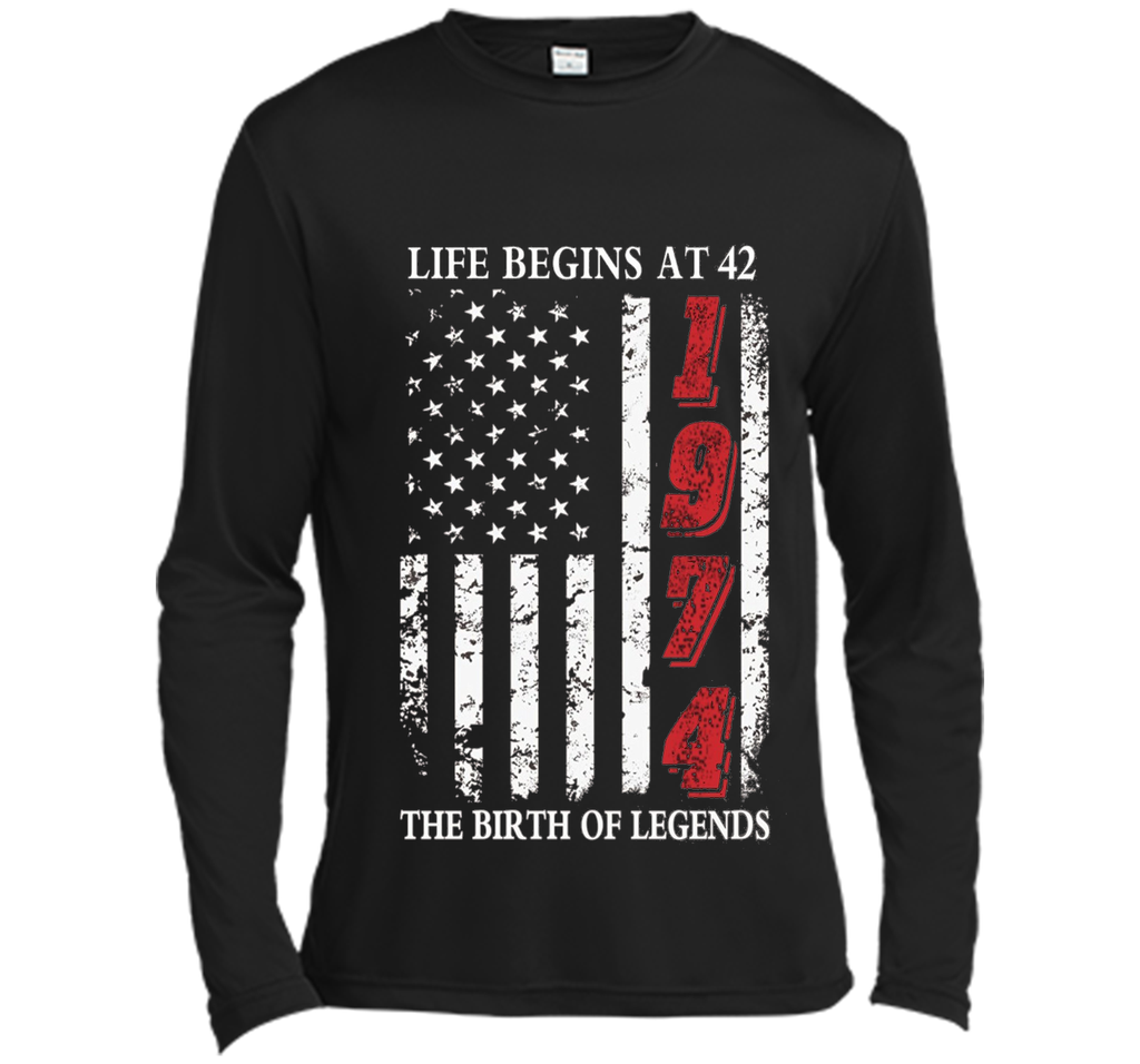 Life Begins At 42 The Birth Of Legends t-shirt