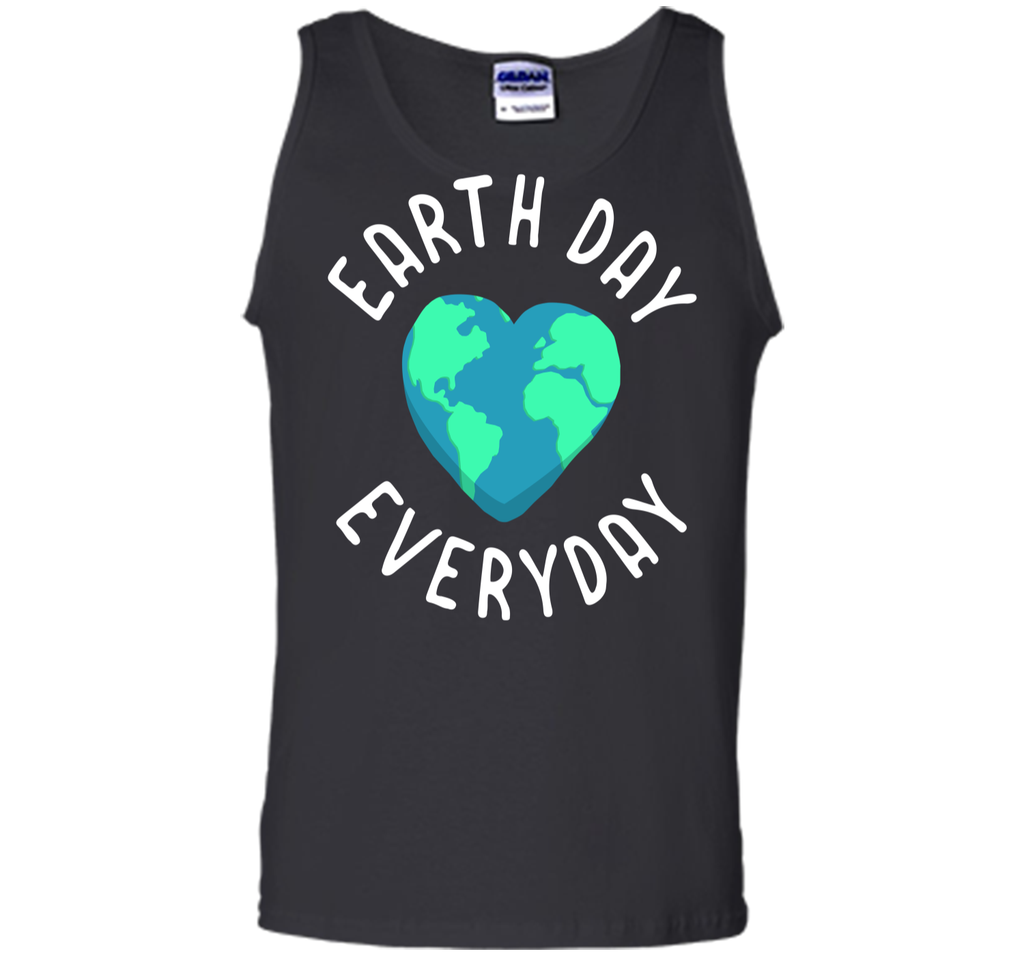 Mens Funny Earth Day Shirt Earth Day Everyday Cute Heart Planet Tank Top