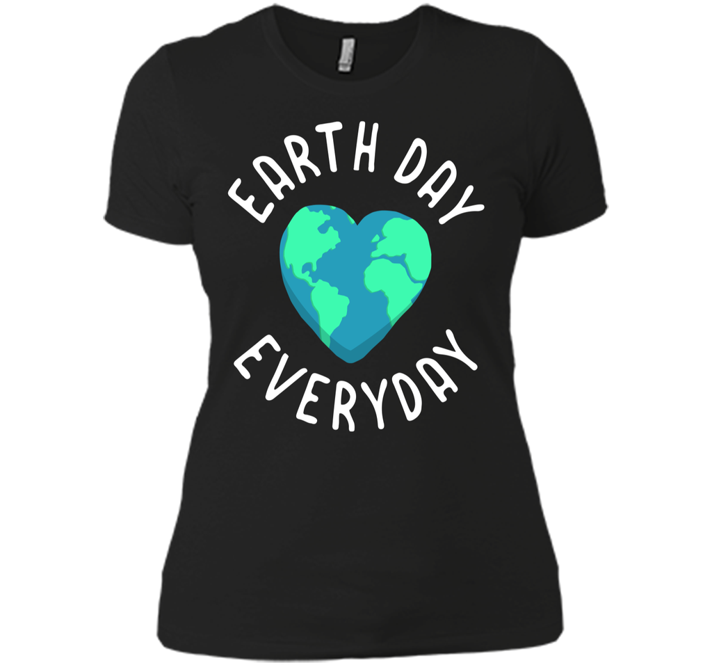 Mens Funny Earth Day Shirt Earth Day Everyday Cute Heart Planet Next Level Ladies Boyfriend Tee