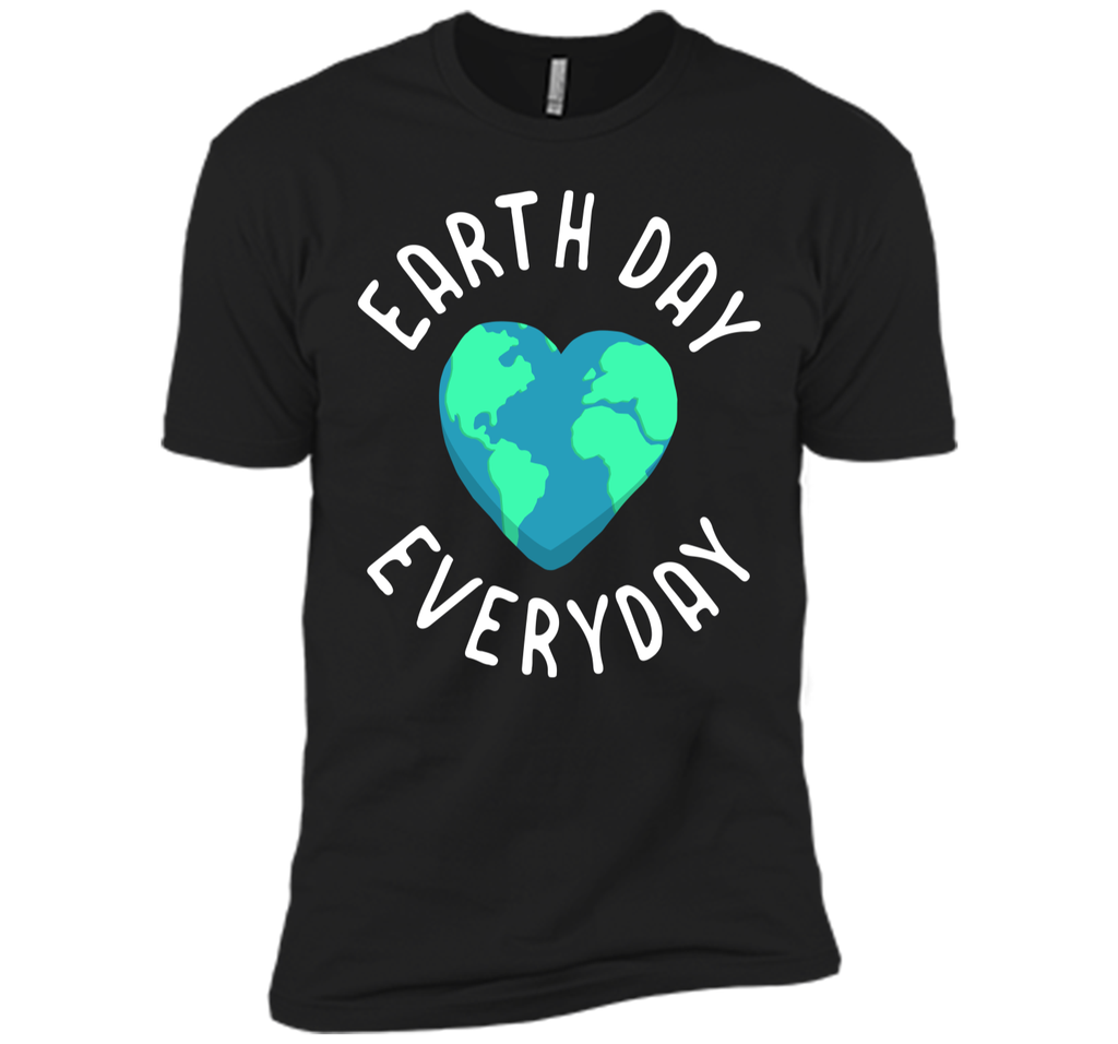 Mens Funny Earth Day Shirt Earth Day Everyday Cute Heart Planet Next Level Premium Short Sleeve Tee