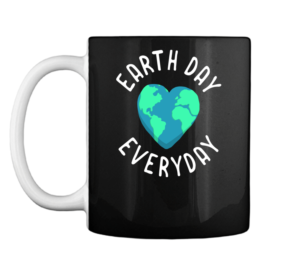 Mens Funny Earth Day Shirt Earth Day Everyday Cute Heart Planet Mug