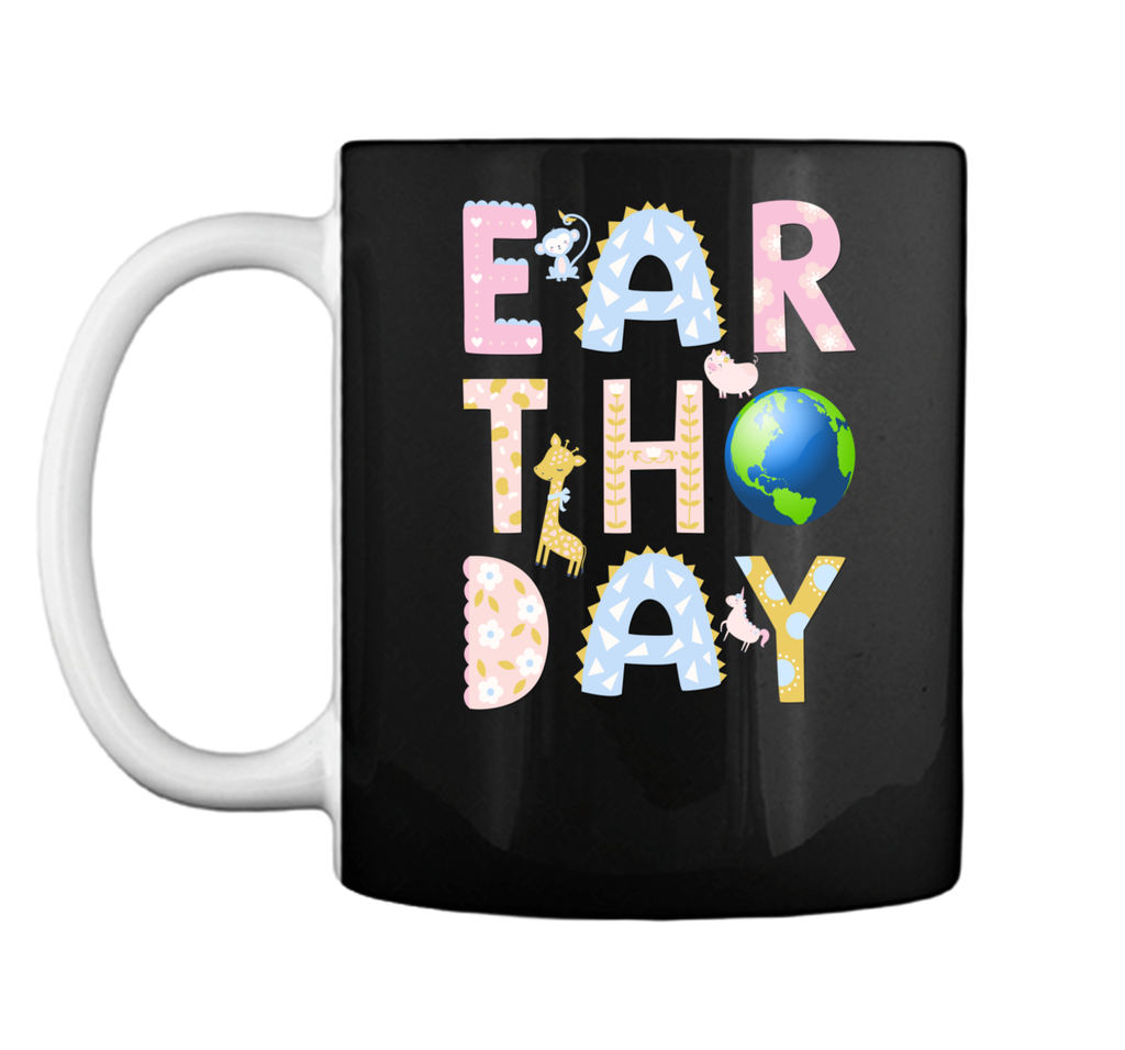 Monkey Giraffe Pig Unicorn Earth Day Shirt For Kids Mug