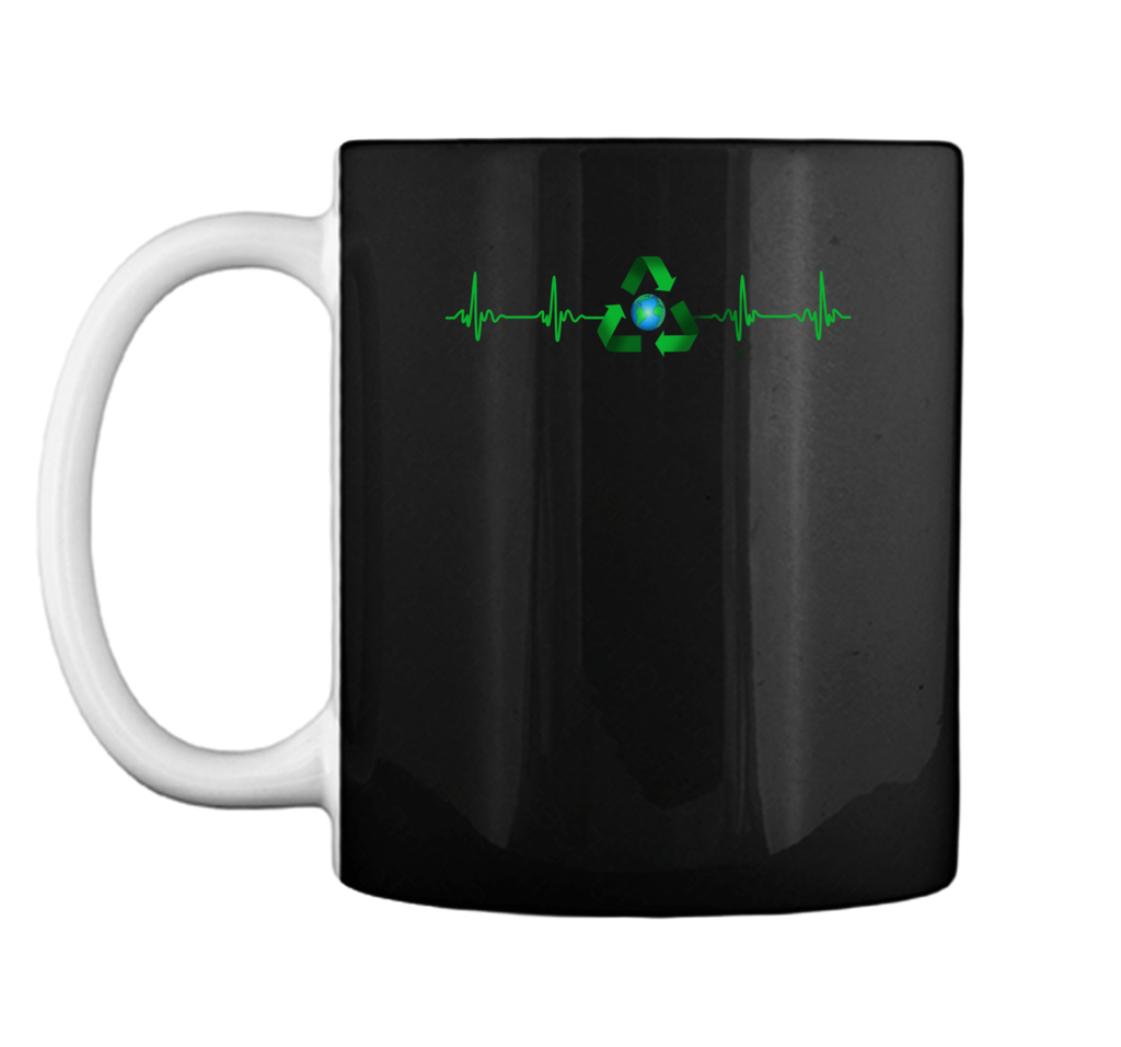 National Earth Day T-Shirt. Heart Beat Earth Day Tee Mug