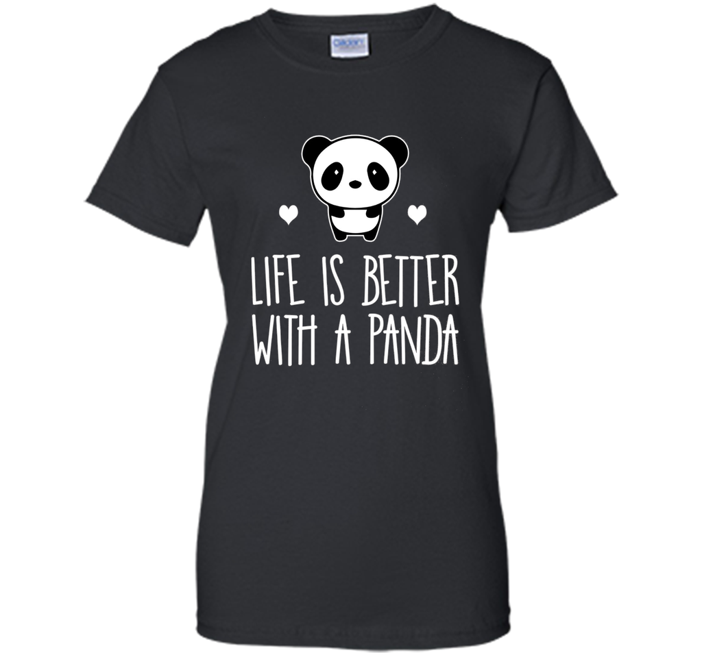 Life Is Better With A Panda Animal Bear Hearts T-Shirt shirt