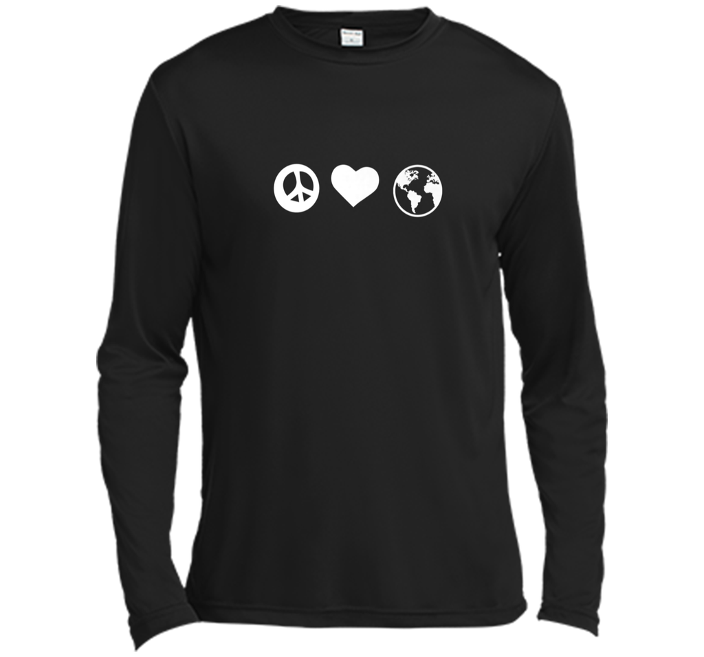 Peace Love Earth Earth Day T-shirt Women Men Boy Girl Long Sleeve Moisture Absorbing Shirt