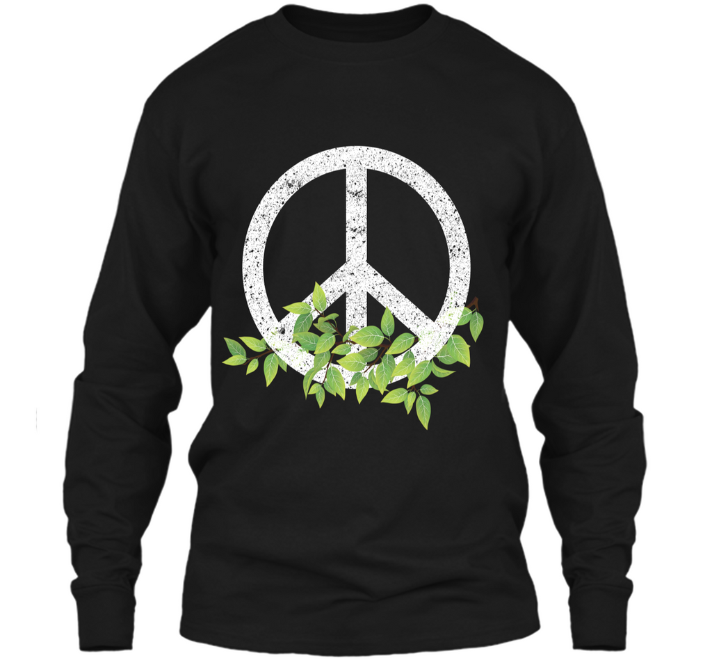 Peace Reduce Reuse Recycle Environmental Earth Day T Shirt LS Ultra Cotton Tshirt