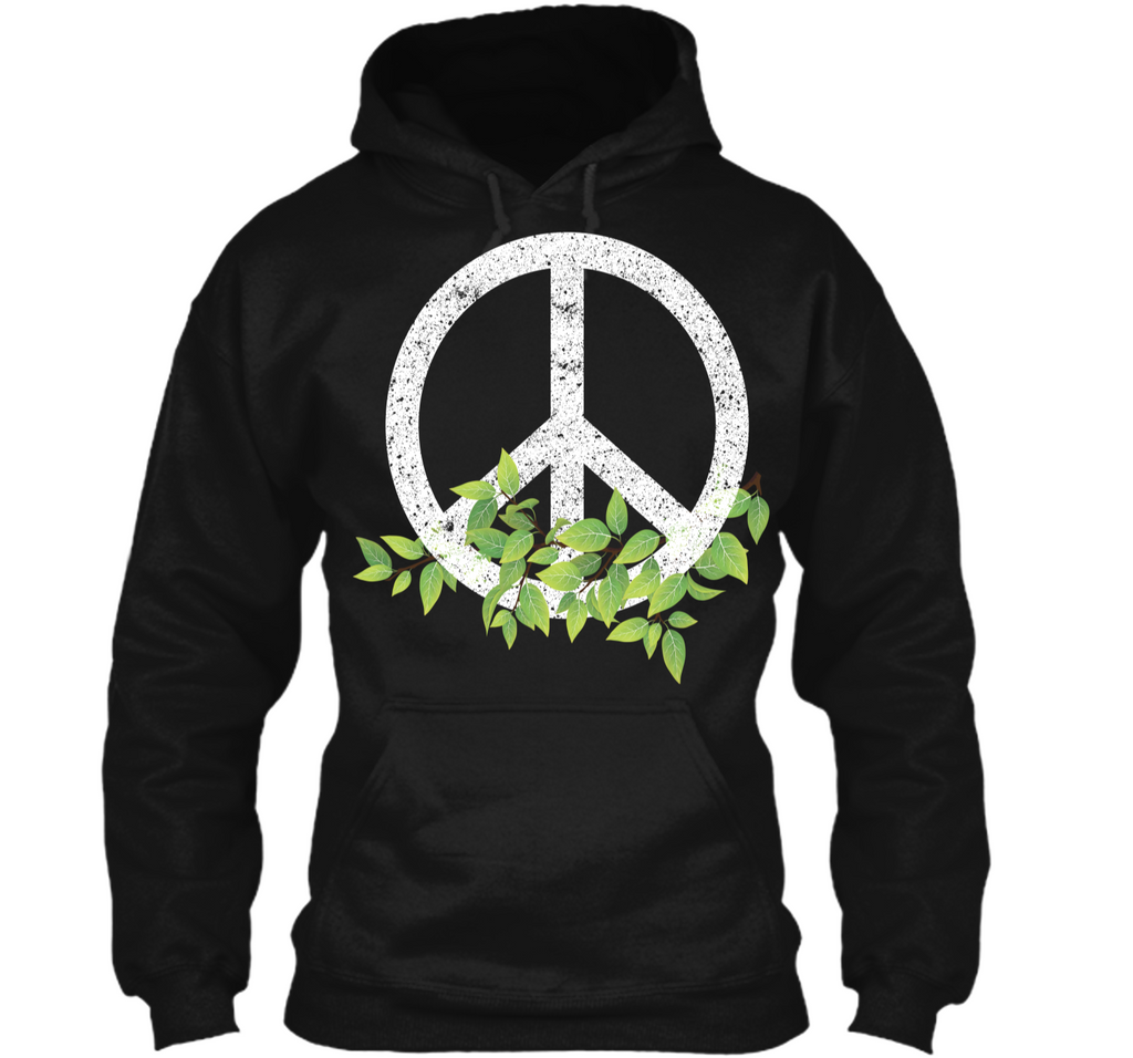 Peace Reduce Reuse Recycle Environmental Earth Day T Shirt Pullover Hoodie 8 oz