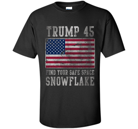 Trump 45 Find Your Safe Space Snowflake Shirt cool shirt