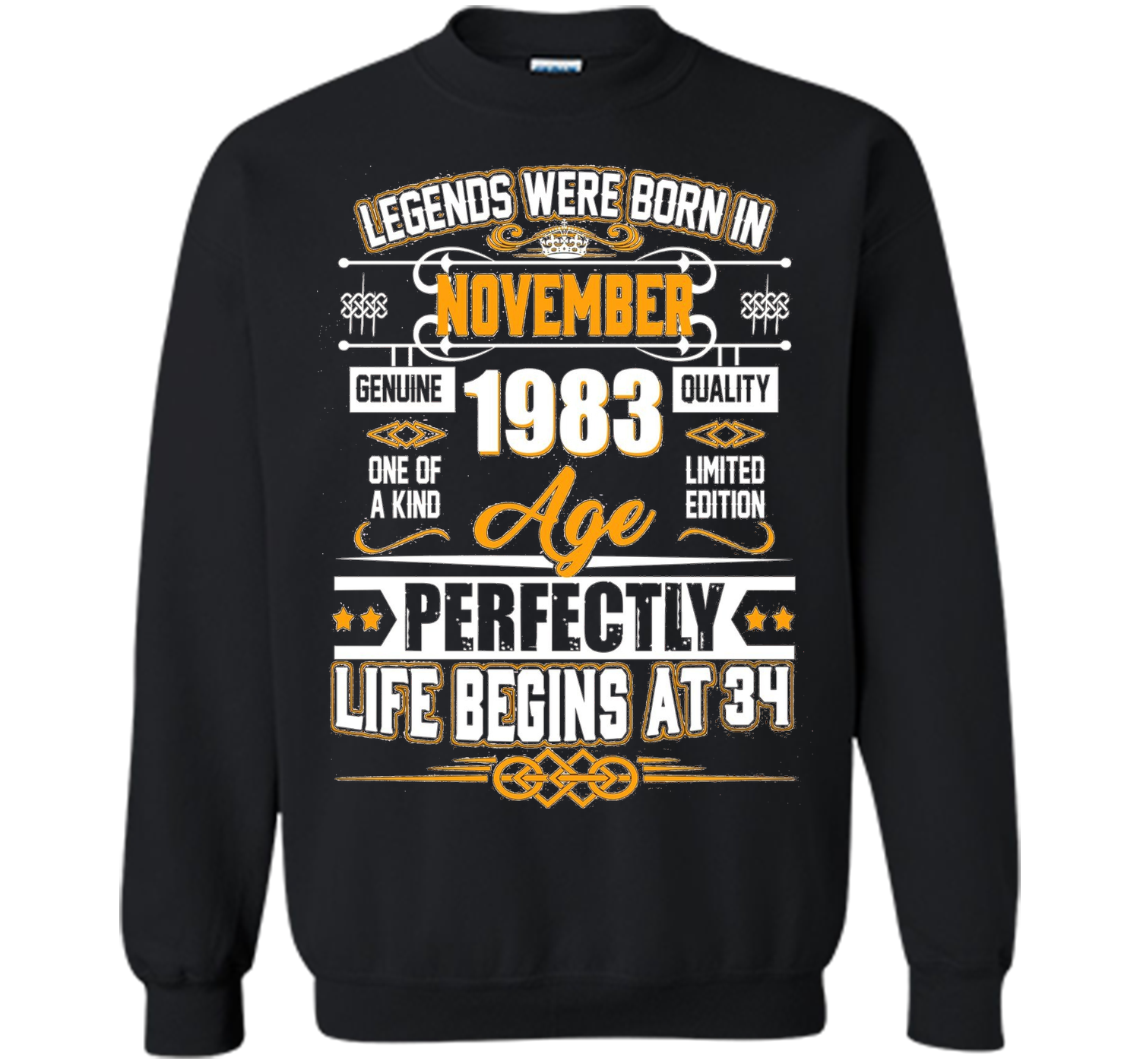 Legends Were Born In November 1983 Shirt 34th Birthday Gift