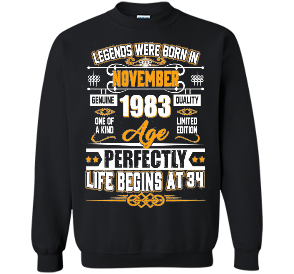 Legends Were Born In November 1983 Shirt 34th Birthday Gift shirt