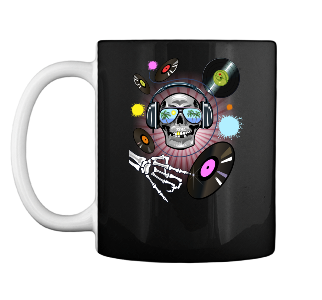 Skull costume for Funny Halloween Party Graphic Mug