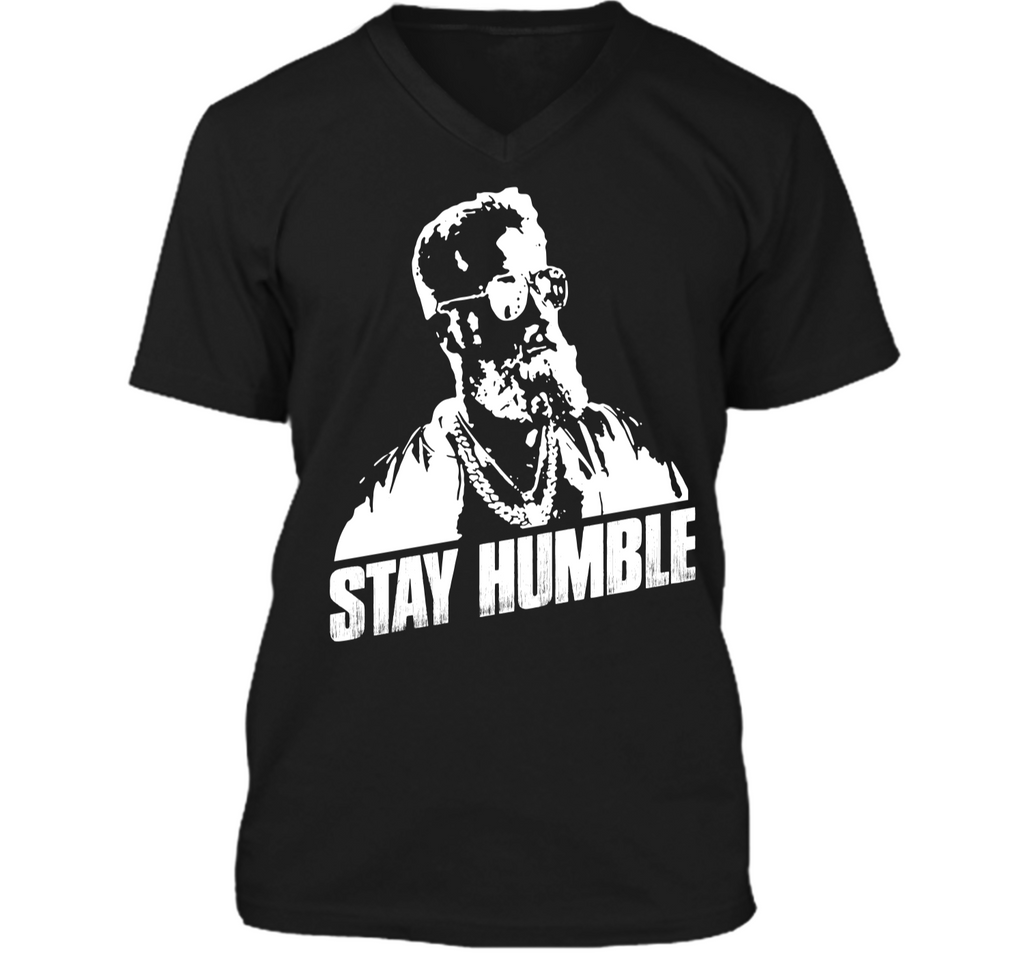 Stay Humble Fitz-Magic Buccaneers Fan T-Shirt Mens Printed V-Neck T