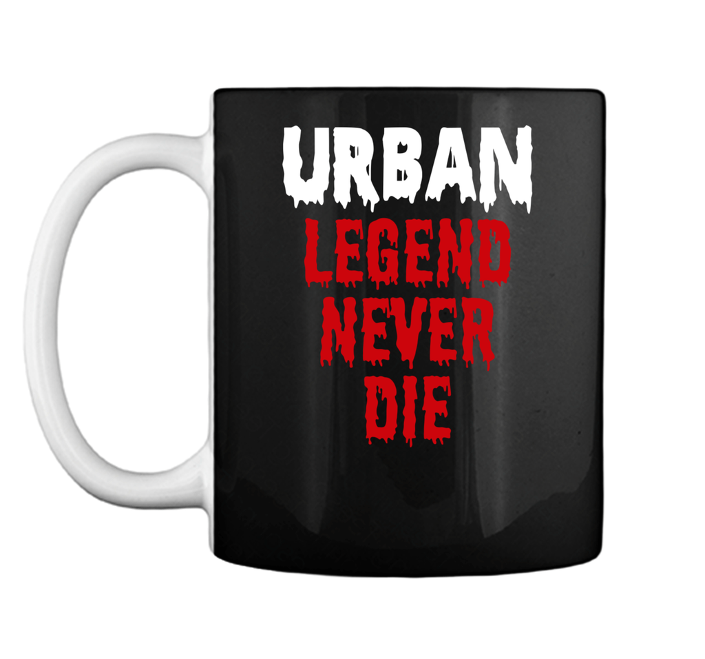 Urban Legends Never Die Ohio OH State Map Design Red Mug