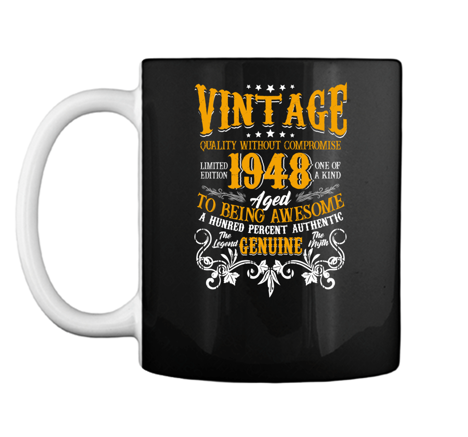 Vintage Genuine Made In 1948 70th Birthday Gift 70 Years Old Mug