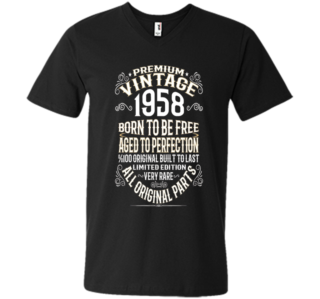 Premium Vintage 1958 Aged To Perfection 100% Genui T-Shirt