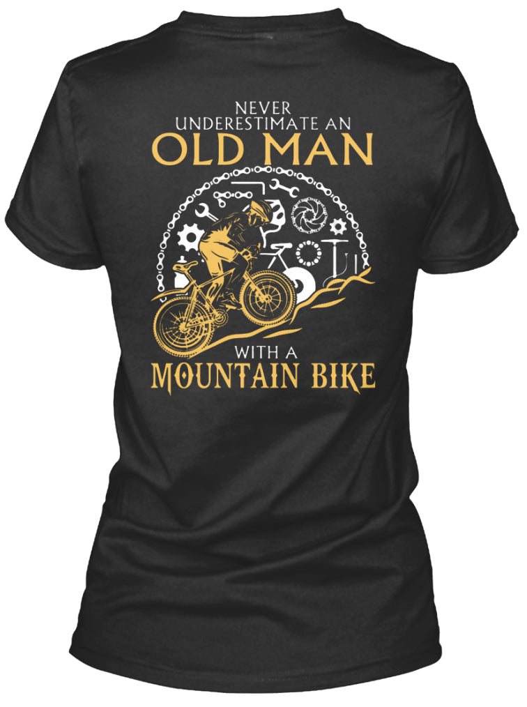 Old Man With Mountain Bike
