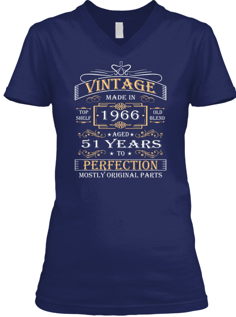 Vintage Age 51 Years 1966 Perfect 51st Birthday Gift